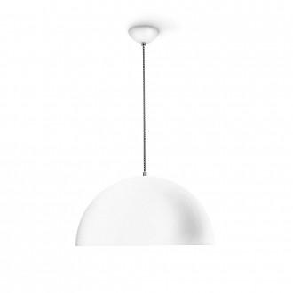 PHILIPS 36167/31/E7 | Breton Philips függeszték lámpa energiatakarékos izzóhoz tervezve 1x E27 fehér, ezüst