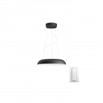 PHILIPS 40233/30/P7 | PHILIPS-hue_Amaze Philips függeszték hue okos világítás kerek távirányító szabályozható fényerő, állítható színhőmérséklet 1x LED 3000lm 2200 <-> 6500K fekete, fehér