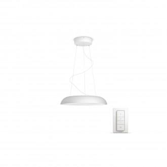 PHILIPS 40233/31/P7 | PHILIPS-hue_Amaze Philips függeszték hue okos világítás kerek távirányító szabályozható fényerő, állítható színhőmérséklet 1x LED 3000lm 2200 <-> 6500K fehér