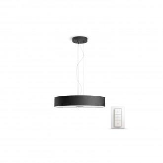 PHILIPS 40339/30/P7 | PHILIPS-hue-Fair Philips függeszték hue okos világítás kerek távirányító szabályozható fényerő, állítható színhőmérséklet 1x LED 3000lm 2200 <-> 6500K fekete, fehér