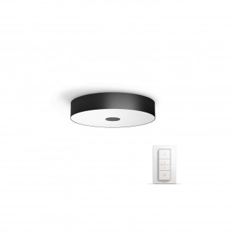 PHILIPS 40340/30/P7 | PHILIPS-hue_Fair Philips mennyezeti hue okos világítás kerek távirányító szabályozható fényerő, állítható színhőmérséklet 1x LED 3000lm 2200 <-> 6500K fekete, fehér