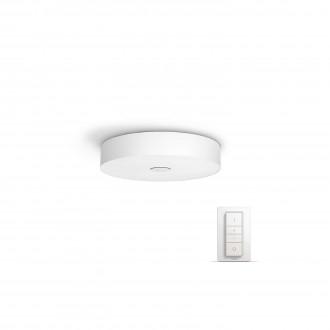 PHILIPS 40340/31/P7 | PHILIPS-hue_Fair Philips mennyezeti hue okos világítás kerek távirányító szabályozható fényerő, állítható színhőmérséklet 1x LED 3000lm 2200 <-> 6500K fehér