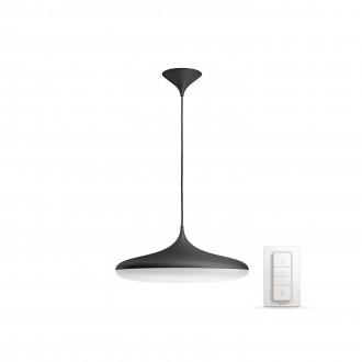 PHILIPS 40761/30/P7 | PHILIPS-hue_Cher Philips függeszték hue okos világítás kerek távirányító szabályozható fényerő, állítható színhőmérséklet 1x LED 3000lm 2200 <-> 6500K fekete, fehér