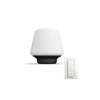 PHILIPS 40801/30/P7 | PHILIPS-hue_Wellness Philips asztali hue okos világítás kerek 19,3cm távirányító szabályozható fényerő, állítható színhőmérséklet 1x E27 806lm 2200 <-> 6500K fekete, fehér