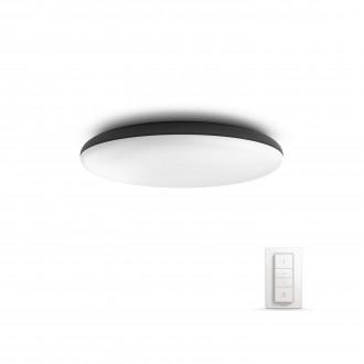 PHILIPS 40967/30/P7   PHILIPS-hue-Cher Philips mennyezeti hue okos világítás kerek távirányító szabályozható fényerő, állítható színhőmérséklet 1x LED 3000lm 2200 <-> 6500K fekete, fehér