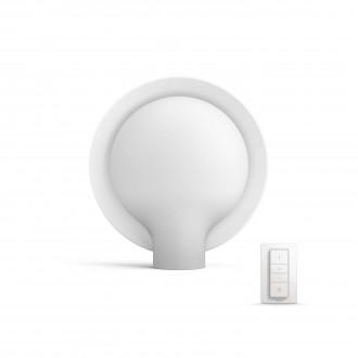 PHILIPS 40975/31/P7 | PHILIPS-hue_Felicity Philips asztali hue okos világítás kerek 8,7cm távirányító szabályozható fényerő, állítható színhőmérséklet 1x E27 806lm 2200 <-> 6500K fehér