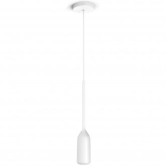 PHILIPS 43007/31/P7 | PHILIPS-hue-Devote Philips függeszték hue DIM hordozható kapcsoló + hue okos világítás kerek távirányító szabályozható fényerő, állítható színhőmérséklet 1x E27 806lm 2200 <-> 6500K fehér