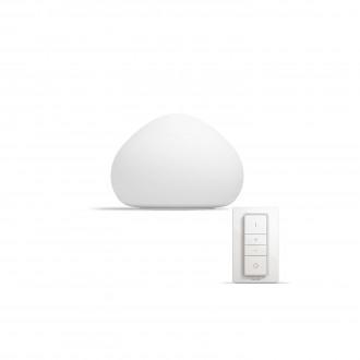 PHILIPS 44401/56/P7 | PHILIPS-hue_Wellner Philips asztali hue okos világítás kerek 19,2cm távirányító szabályozható fényerő, állítható színhőmérséklet 1x E27 806lm 2200 <-> 6500K fehér