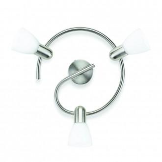 PHILIPS 50233/17/E7 | Burlap Philips fali, mennyezeti lámpa elforgatható alkatrészek 3x E14 matt króm, fehér