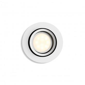 PHILIPS 50411/31/P9   PHILIPS-hue-Milliskin Philips beépíthető hue okos világítás kerek szabályozható fényerő, állítható színhőmérséklet, Bluetooth, billenthető Ø90mm 1x GU10 350lm 2200 <-> 6500K fehér