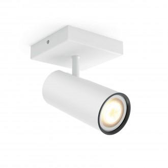 PHILIPS 50461/31/P8 | PHILIPS-hue_Buratto Philips fali, mennyezeti hue okos világítás kerek szabályozható fényerő, állítható színhőmérséklet 1x GU10 250lm 2200 <-> 6500K fehér