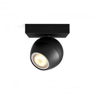 PHILIPS 50471/30/P6   PHILIPS-hue-Buckram Philips spot hue DIM hordozható kapcsoló + hue okos világítás kerek távirányító szabályozható fényerő, állítható színhőmérséklet, Bluetooth 1x GU10 350lm 2200 <-> 6500K fekete