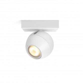 PHILIPS 50471/31/P8 | PHILIPS-hue-Buckram Philips fali, mennyezeti hue okos világítás kerek szabályozható fényerő, állítható színhőmérséklet 1x GU10 250lm 2200 <-> 6500K fehér