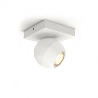 PHILIPS 50471/31/P9   PHILIPS-hue-Buckram Philips spot hue okos világítás kerek szabályozható fényerő, állítható színhőmérséklet, Bluetooth 1x GU10 350lm 2200 <-> 6500K fehér