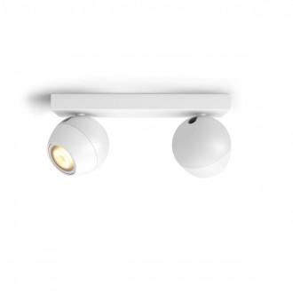 PHILIPS 50472/31/P6   PHILIPS-hue-Buckram Philips spot hue DIM hordozható kapcsoló + hue okos világítás kerek távirányító szabályozható fényerő, állítható színhőmérséklet, Bluetooth 2x GU10 700lm 2200 <-> 6500K fehér