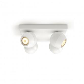 PHILIPS 50474/31/P6   PHILIPS-hue-Buckram Philips spot hue DIM hordozható kapcsoló + hue okos világítás kerek távirányító szabályozható fényerő, állítható színhőmérséklet, Bluetooth 4x GU10 1400lm 2200 <-> 6500K fehér