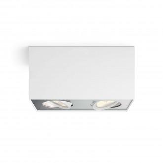 PHILIPS 50492/31/P0 | Box Philips mennyezeti WarmGlow lámpa négyszögletes szabályozható fényerő, elforgatható fényforrás 2x LED 1000lm 2200 <-> 6500K fehér, szürke