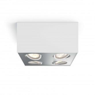 PHILIPS 50494/31/P0 | Box Philips mennyezeti WarmGlow lámpa négyszögletes szabályozható fényerő, elforgatható fényforrás 4x LED 2000lm 2200 <-> 6500K fehér, szürke