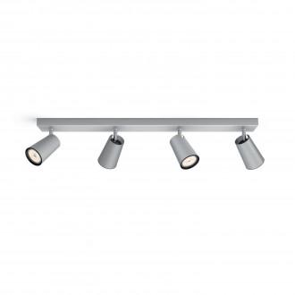 PHILIPS 50574/48/PN | Paisley Philips fali, mennyezeti lámpa kerek elforgatható alkatrészek 4x GU10 alumínium, fekete
