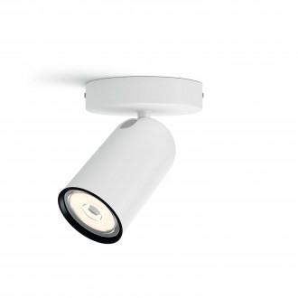 PHILIPS 50581/31/PN   Pongee Philips fali, mennyezeti lámpa kerek elforgatható alkatrészek 1x GU10 fehér, fekete