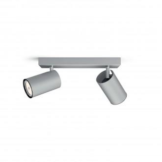 PHILIPS 50592/48/PN   Kosipo Philips fali, mennyezeti lámpa kerek elforgatható alkatrészek 2x GU10 alumínium