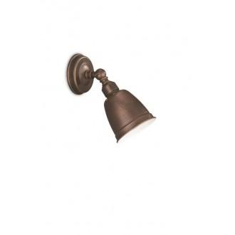 PHILIPS 52130/43/PN | PetrolP Philips fali lámpa elforgatható alkatrészek 1x E14 antikolt barna