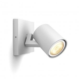 PHILIPS 53090/31/P9 | PHILIPS-hue-Runner Philips spot hue okos világítás kerek szabályozható fényerő, állítható színhőmérséklet, Bluetooth 1x GU10 350lm 2200 <-> 6500K fehér