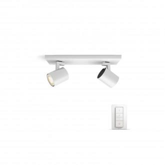 PHILIPS 53092/31/P7 | PHILIPS-hue_Runner Philips fali, mennyezeti hue okos világítás kerek távirányító szabályozható fényerő, állítható színhőmérséklet 2x GU10 500lm 2200 <-> 6500K fehér