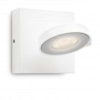 PHILIPS 53170/31/16   Clockwork Philips fali, mennyezeti lámpa szabályozható fényerő, elforgatható fényforrás 1x LED 500lm 2700K fehér