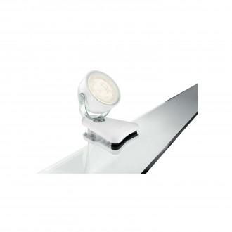 PHILIPS 53231/31/16 | Dyna Philips csiptetős lámpa vezeték kapcsoló elforgatható alkatrészek 1x LED 270lm 2700K fehér