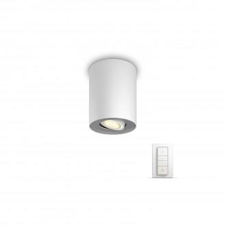 PHILIPS 56330/31/P7 | PHILIPS-hue_Pillar Philips mennyezeti hue okos világítás kerek távirányító szabályozható fényerő, állítható színhőmérséklet 1x GU10 250lm 2200 <-> 6500K fehér