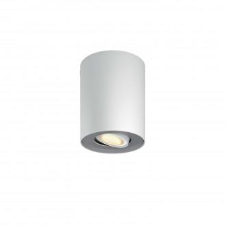 PHILIPS 56330/31/P8 | PHILIPS-hue-Pillar Philips mennyezeti hue okos világítás kerek szabályozható fényerő, állítható színhőmérséklet 1x GU10 250lm 2200 <-> 6500K fehér