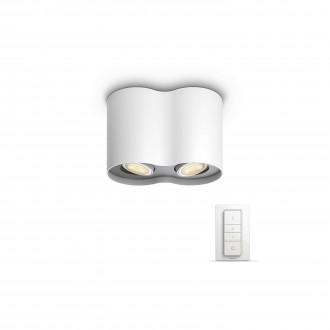 PHILIPS 56332/31/P7   PHILIPS-hue_Pillar Philips mennyezeti hue okos világítás kerek távirányító szabályozható fényerő, állítható színhőmérséklet 2x GU10 500lm 2200 <-> 6500K fehér