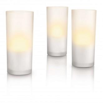 PHILIPS 69108/60/PH | CandleLights Philips dekor lámpa 3 darabos szett 3x LED 5lm 2700K IP65 fehér