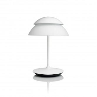 PHILIPS 71202/31/PH | PHILIPS-hue_Beyond Philips asztali hue okos világítás kerek 40,4cm kapcsoló szabályozható fényerő, színváltós 2x LED 600lm 2200 <-> 6500K fehér