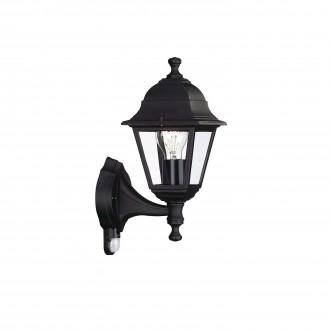 PHILIPS 71422/01/30 | Lima Philips fali lámpa mozgásérzékelő 1x E27 IP44 fekete