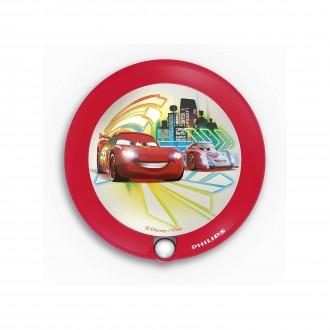 PHILIPS 71765/32/16 | Cars Philips LED éjjelifény lámpa mozgásérzékelő 1x LED 5lm 3000K piros, többszínű