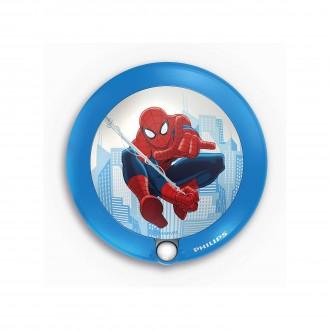 PHILIPS 71765/40/16 | Spiderman Philips LED éjjelifény lámpa mozgásérzékelő 1x LED 5lm 3000K kék, többszínű