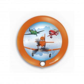 PHILIPS 71765/53/16 | Planes Philips LED éjjelifény lámpa mozgásérzékelő 1x LED 5lm 3000K narancs, többszínű