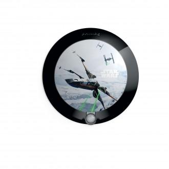 PHILIPS 71765/99/P0 | Star-Wars Philips fali lámpa mozgásérzékelő 1x LED 5lm 2700K fekete, többszínű