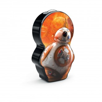 PHILIPS 71767/30/P0 | Star-Wars-BB-8 Philips hordozható zseblámpa kapcsoló 1x LED 5lm 2700K narancs, fekete