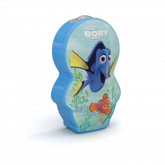 PHILIPS 71767/35/P0 | Finding-Dory Philips hordozható zseblámpa kapcsoló 1x LED 5lm 2700K kék, többszínű