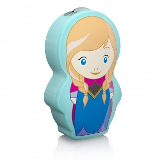 PHILIPS 71767/36/16 | Frozen Philips hordozható zseblámpa kapcsoló 1x LED 5lm 2700K kék, többszínű