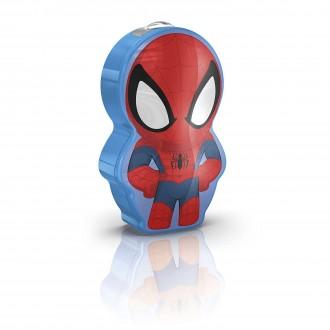 PHILIPS 71767/40/16 | Spiderman Philips hordozható zseblámpa kapcsoló 1x LED 5lm 2700K többszínű