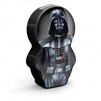 PHILIPS 71767/98/16 | Star-Wars-Darth-Vader Philips hordozható zseblámpa kapcsoló 1x LED 5lm 2700K fekete, többszínű