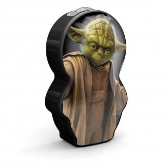 PHILIPS 71767/99/16 | Star-Wars-Yoda Philips hordozható zseblámpa kapcsoló 1x LED 5lm 2700K fekete, többszínű