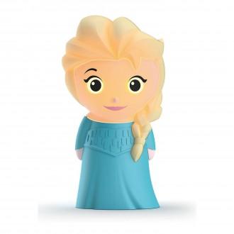 PHILIPS 71768/03/16 | SoftPal_Frozen_Elsa Philips hordozható lámpa kapcsoló 1x LED 5lm 2700K kék, többszínű