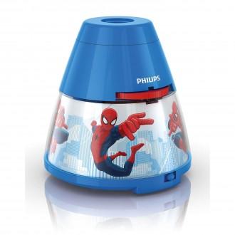 PHILIPS 71769/40/16 | Projector_Spiderman Philips hangulatvilágítás vetítő lámpa két kapcsoló 1x LED 5lm 2700K többszínű
