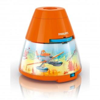 PHILIPS 71769/53/16 | Projector-Planes Philips hangulatvilágítás vetítő lámpa két kapcsoló 1x LED 5lm + 3x LED 2700K narancs, többszínű