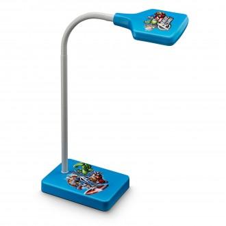 PHILIPS 71770/35/16 | Avengers Philips asztali lámpa 34,7cm kapcsoló flexibilis 1x LED 270lm 2700K kék, többszínű
